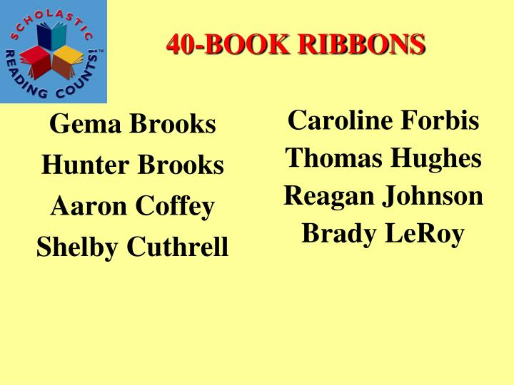 40-BOOK RIBBONS