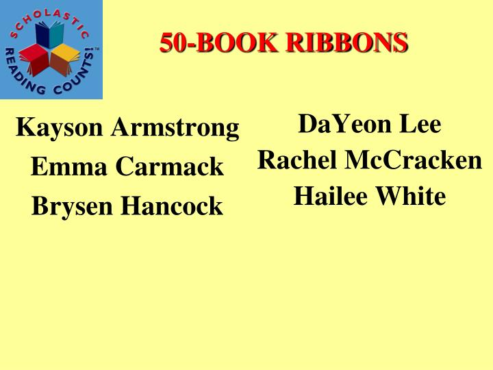 50-BOOK RIBBONS