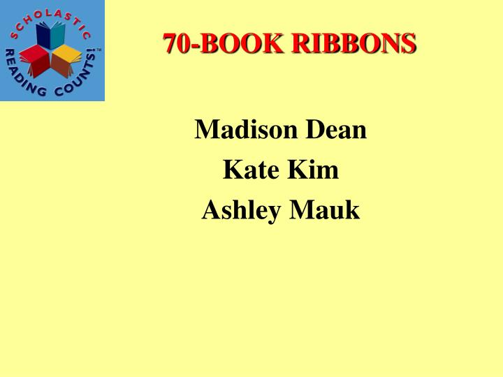 70-BOOK RIBBONS