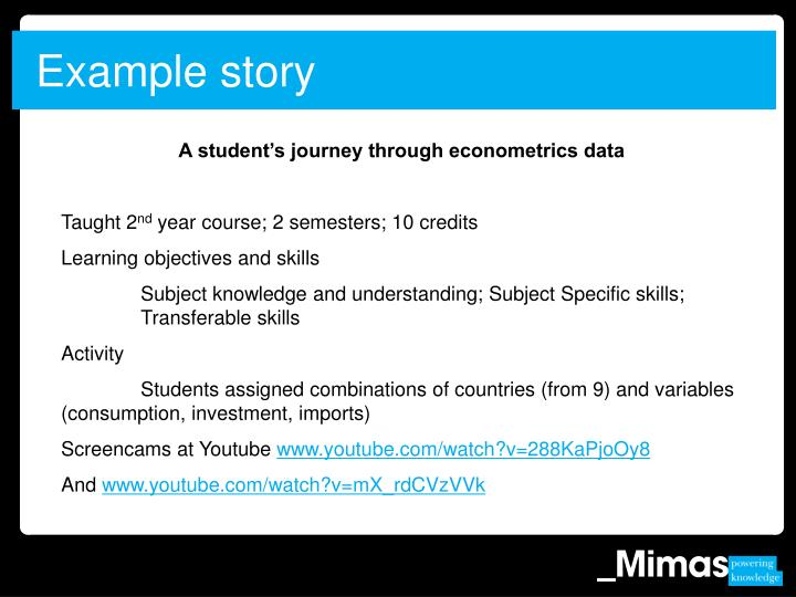 Example story