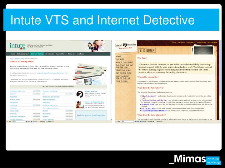 Intute VTS and Internet Detective