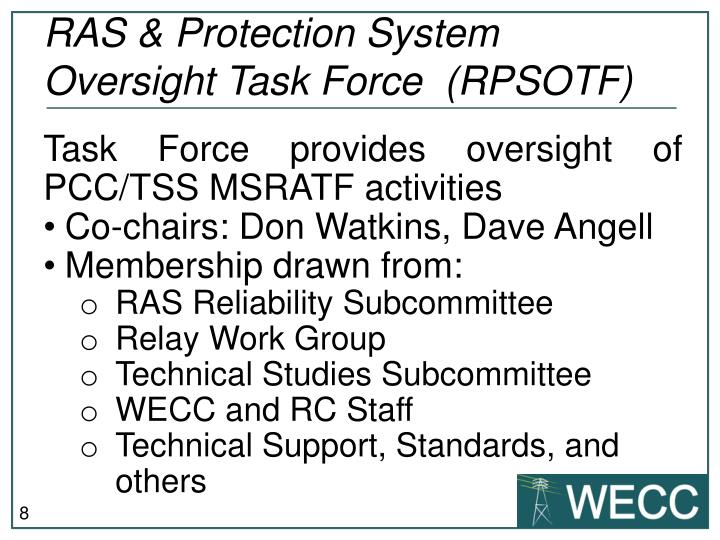 RAS & Protection System Oversight Task Force  (RPSOTF)