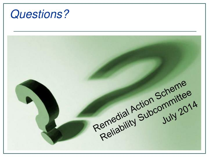 Remedial Action Scheme Reliability Subcommittee
