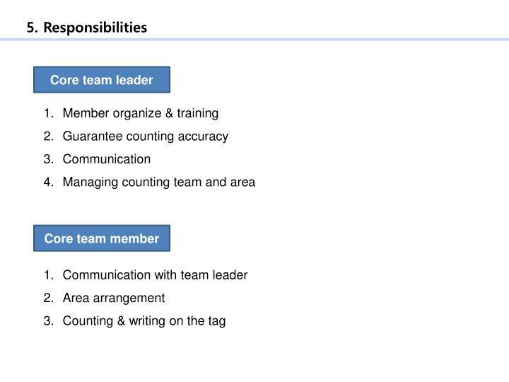 5. Responsibilities
