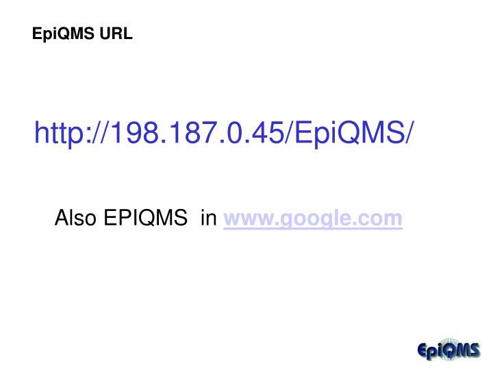 EpiQMS URL