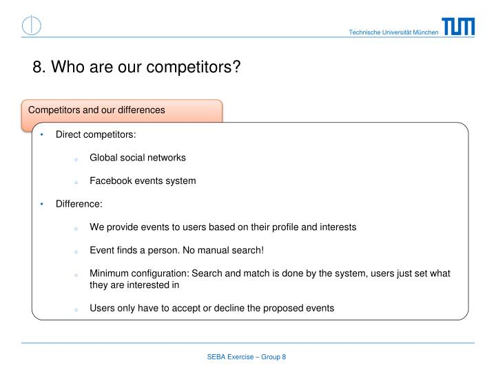 8. Who are our competitors?