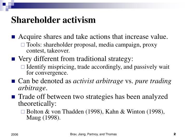 Shareholder activism