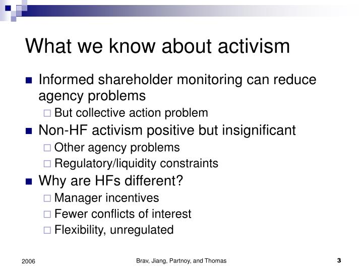 What we know about activism