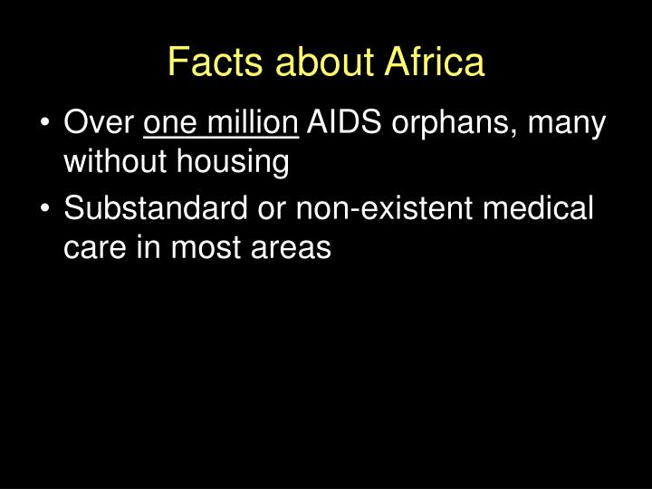 Facts about Africa