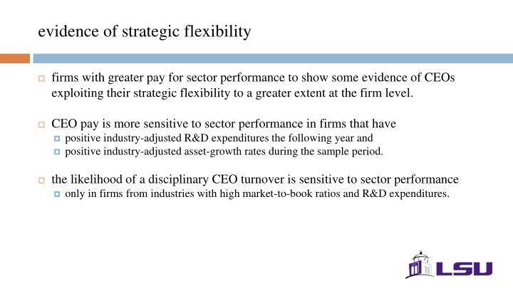evidence of strategic flexibility