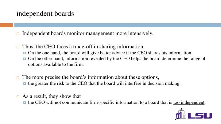 independent boards