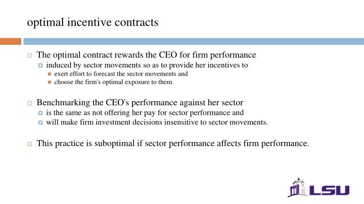 optimal incentive contracts