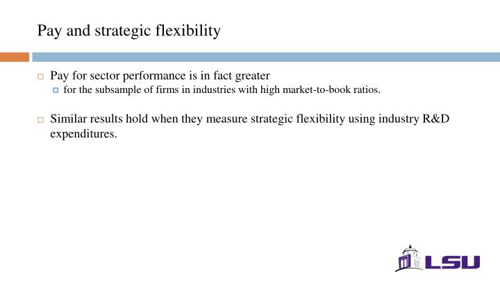 Pay and strategic flexibility