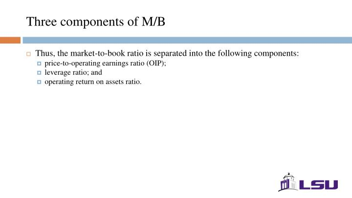Three components of M/B