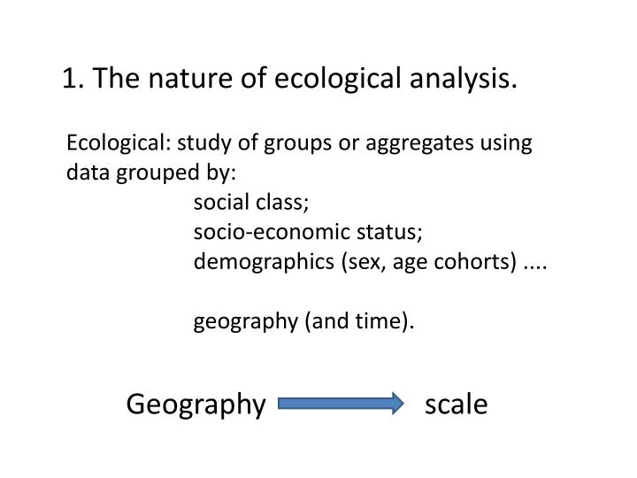 1. The nature of ecological analysis.