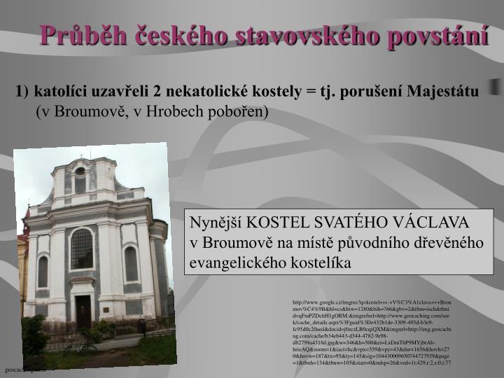 Průběh českého stavovského povstání