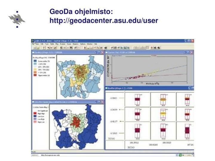 GeoDa ohjelmisto: http://geodacenter.asu.edu/user
