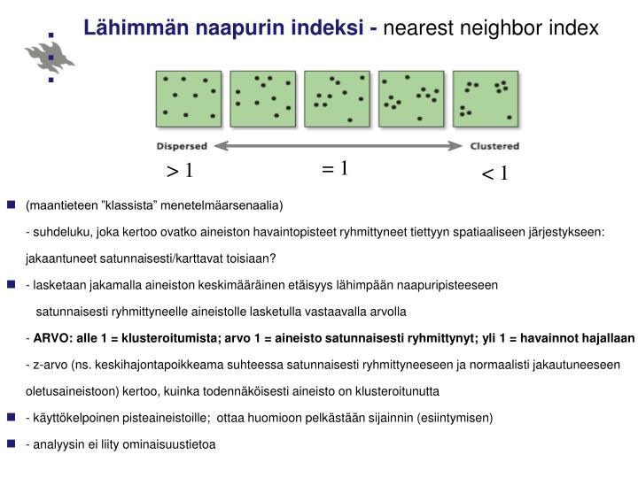 Lähimmän naapurin indeksi -