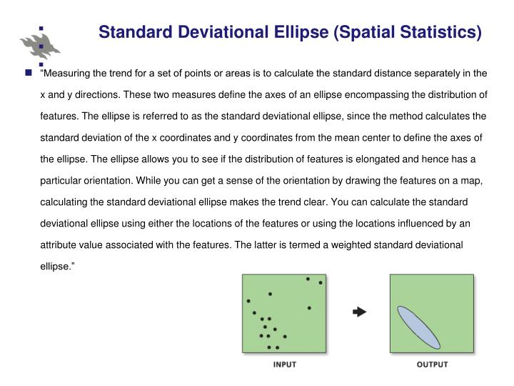 Standard Deviational Ellipse (Spatial Statistics)