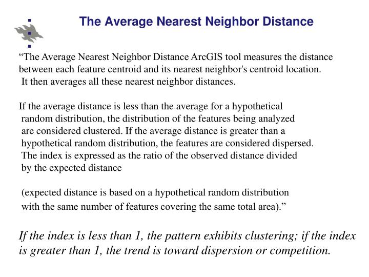 The Average Nearest Neighbor Distance