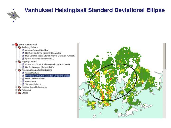 Vanhukset Helsingissä Standard Deviational Ellipse