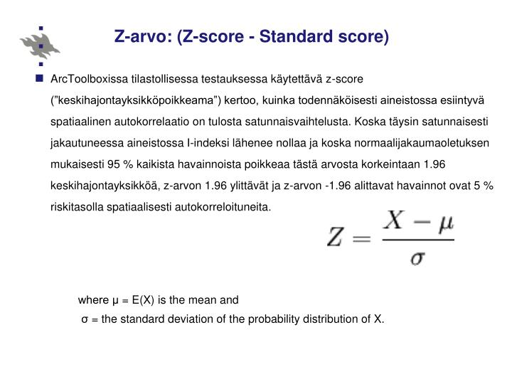 Z-arvo: (Z-score -