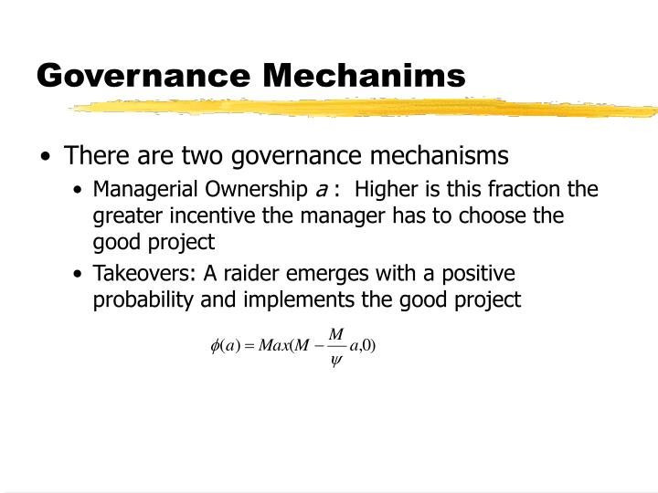 Governance Mechanims