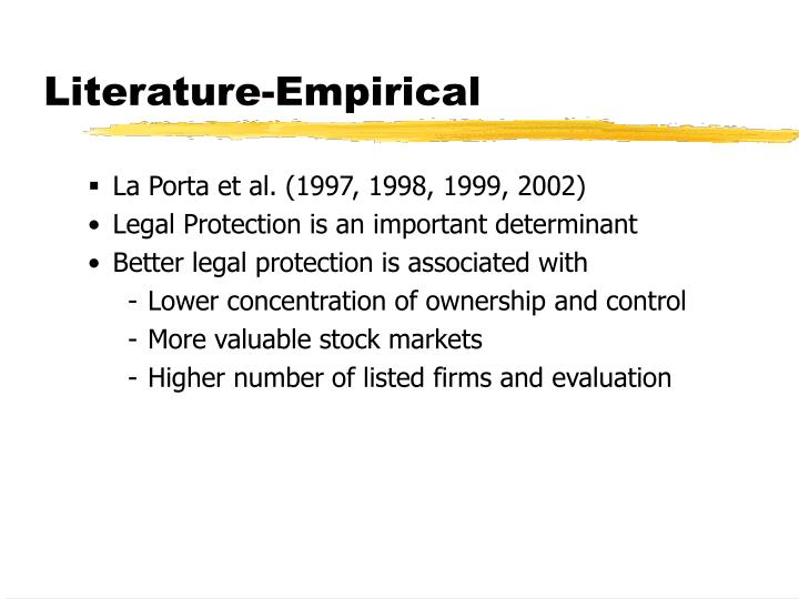 Literature-Empirical