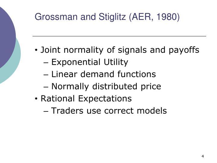 Grossman and Stiglitz (AER, 1980)