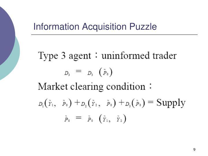 Information Acquisition Puzzle