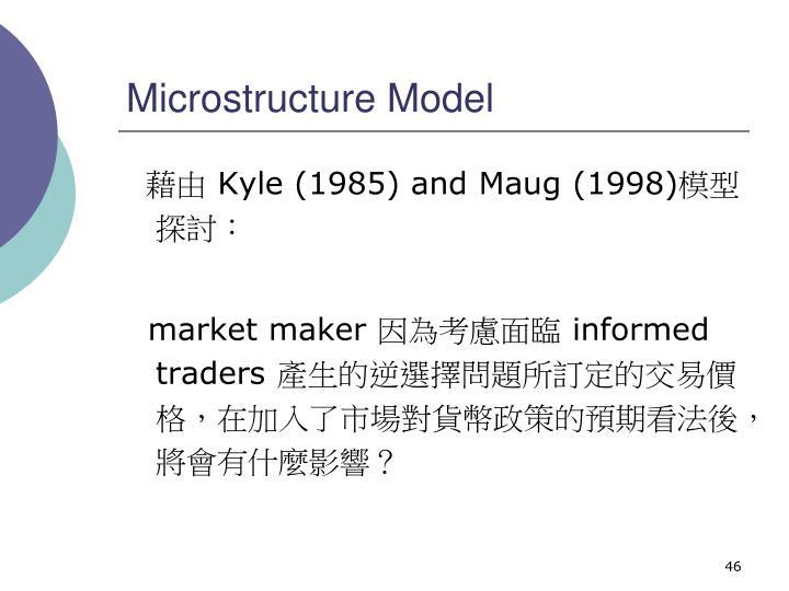 Microstructure Model