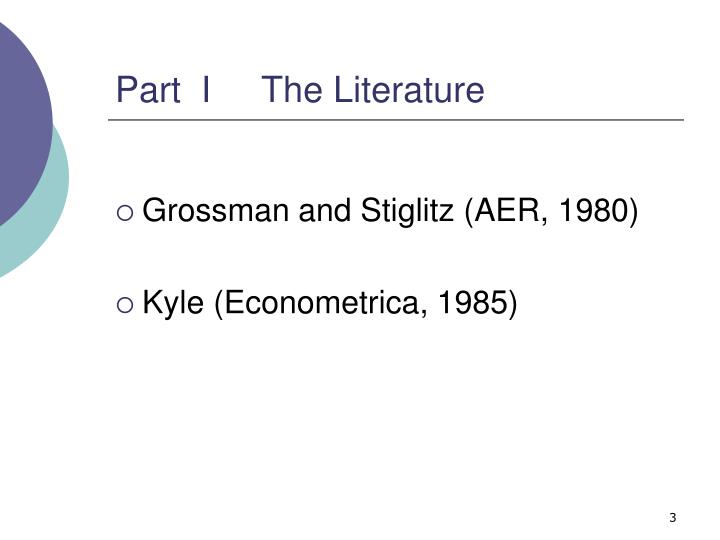 Part  I     The Literature