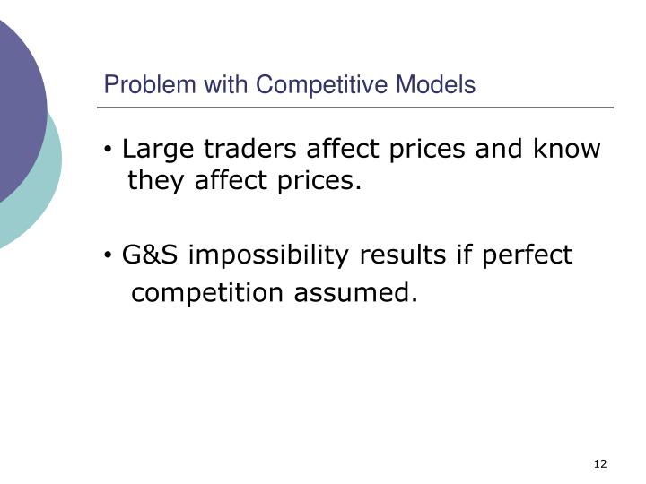 Problem with Competitive Models