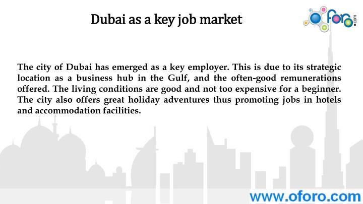 Dubai as a key job market