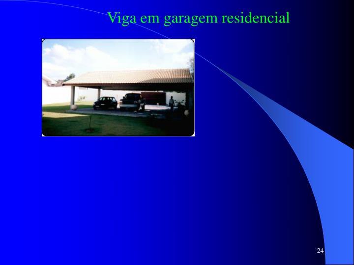 Viga em garagem residencial