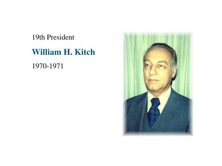 19th President