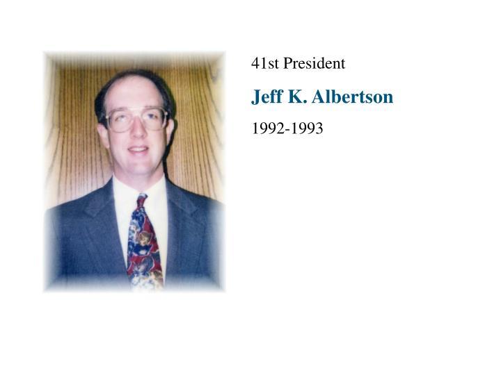 41st President