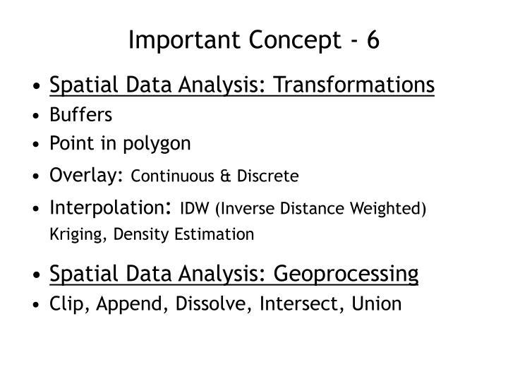 Important Concept - 6