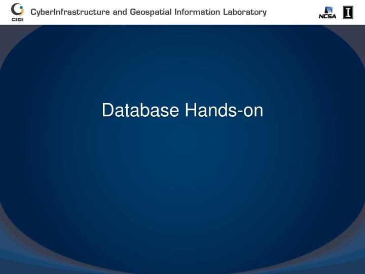Database Hands-on