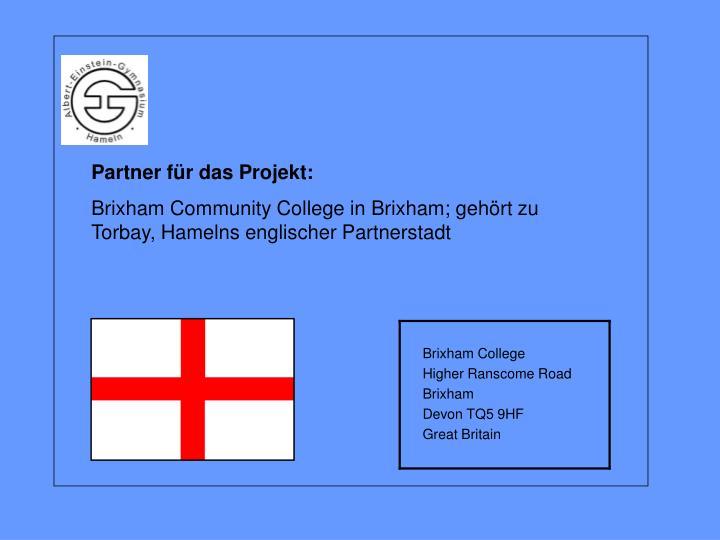 Partner für das Projekt:
