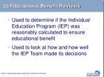 educational benefit reviews