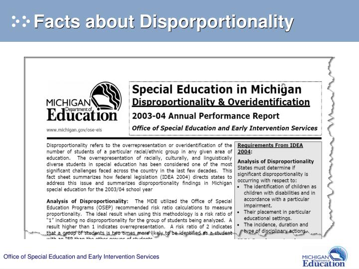Facts about Disporportionality