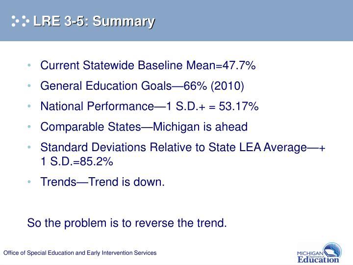 LRE 3-5: Summary