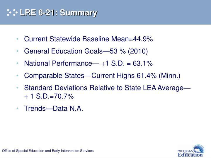 LRE 6-21: Summary