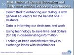 mde office of special education and early intervention services conclusions