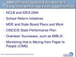 mde office of special education and early intervention services opportunities