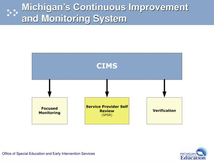 Michigan's Continuous Improvement and Monitoring System