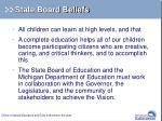 state board beliefs