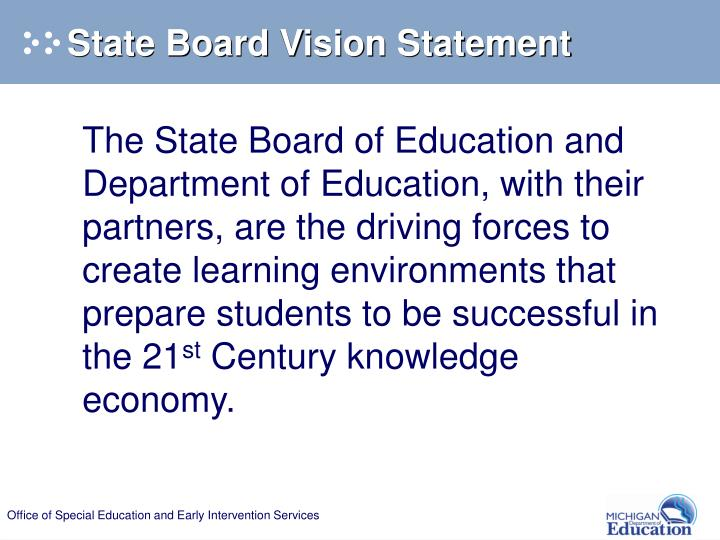 State Board Vision Statement