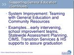 supporting general education continued